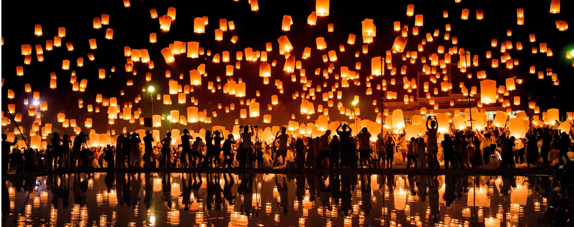 The festival of lights in Chiang Mai. Photo: AFP