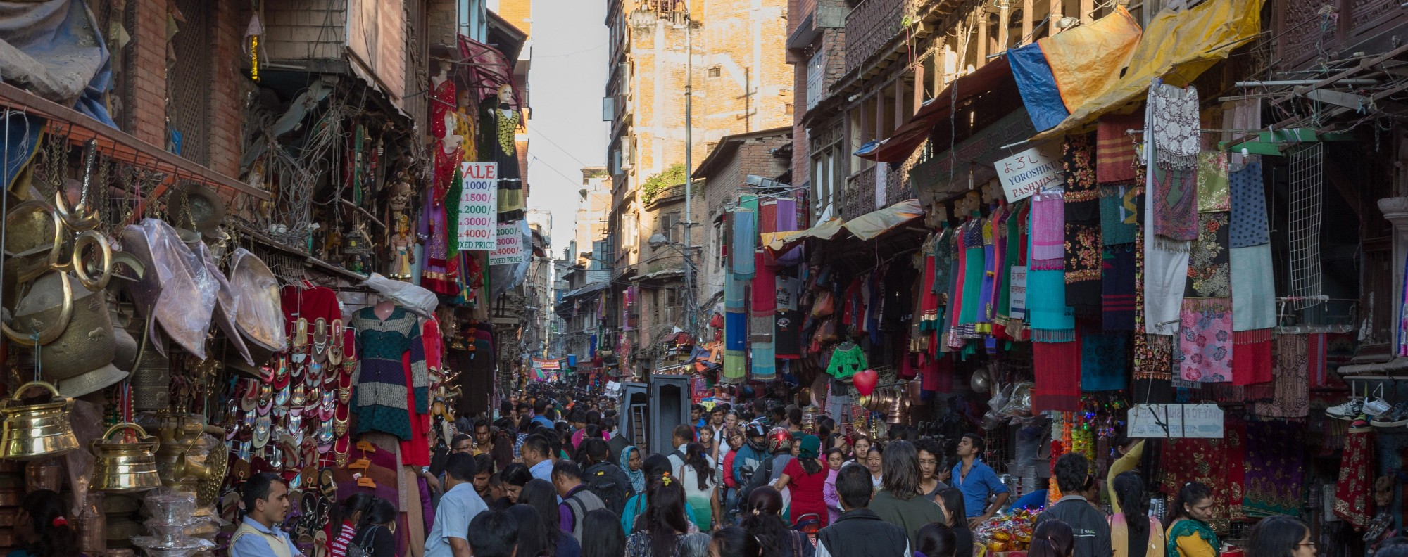 Kathmandu's bustling Thamel district.
