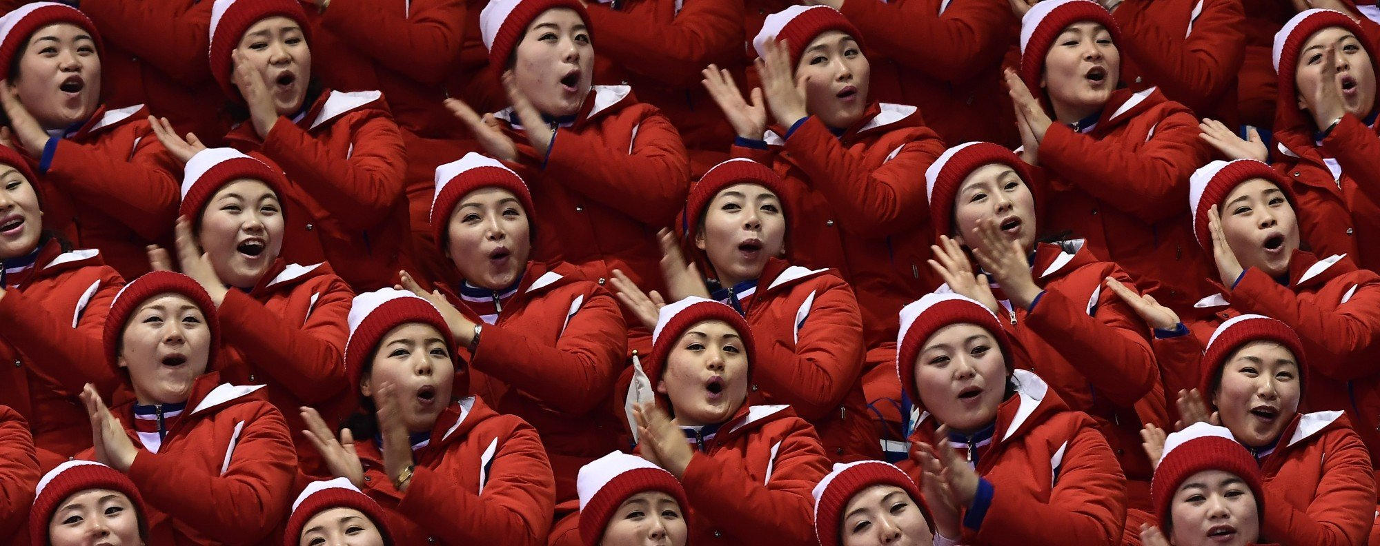 Army of beauties. Photo: AFP