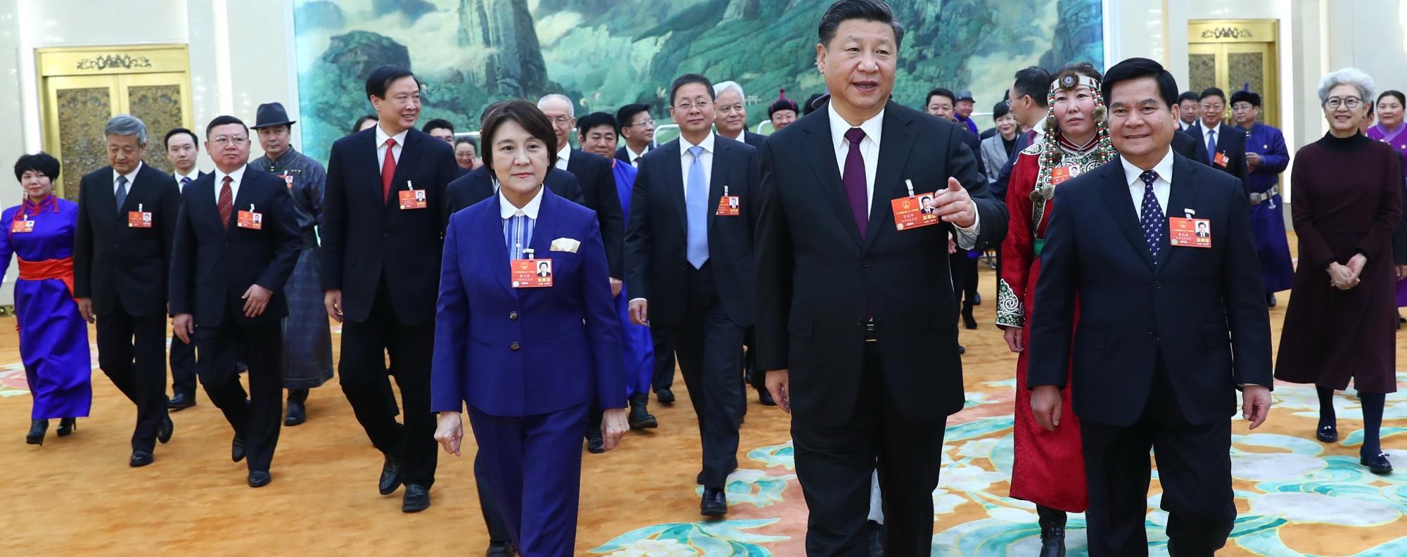 Xi Jinping at the NPC. Photo: Xinhua