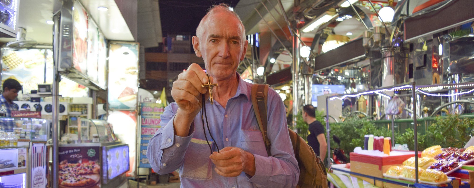 Father John Wotherspoon in Bangkok, Thailand. Picture: Red Door News