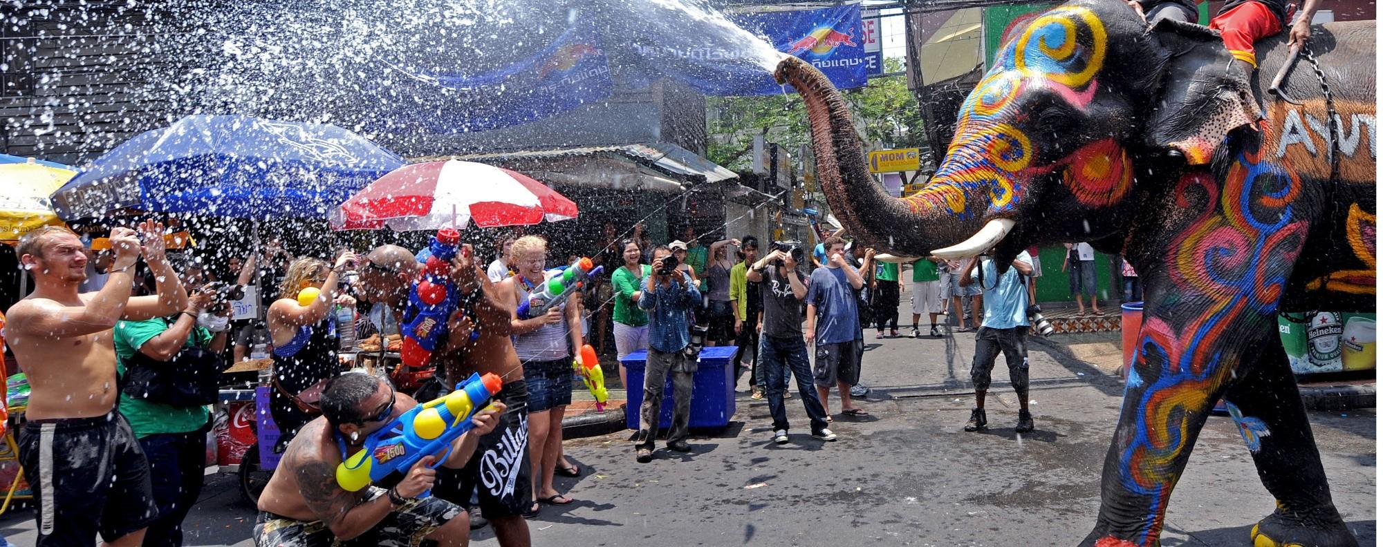 The Songkran festival in Bangkok. Photo: AFP