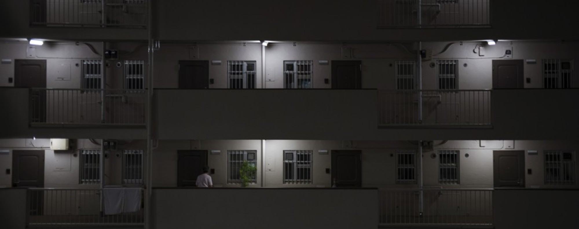 A huge government housing complex in Tokiwadaira, Japan, has become known as the home of the lonely death.