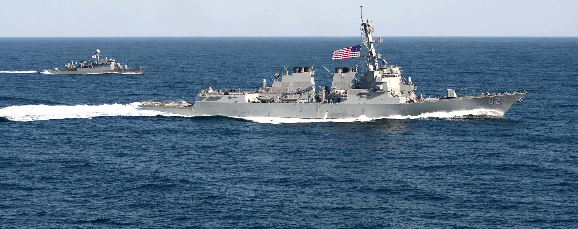 US navy ships in the South China Sea. Photo: AFP
