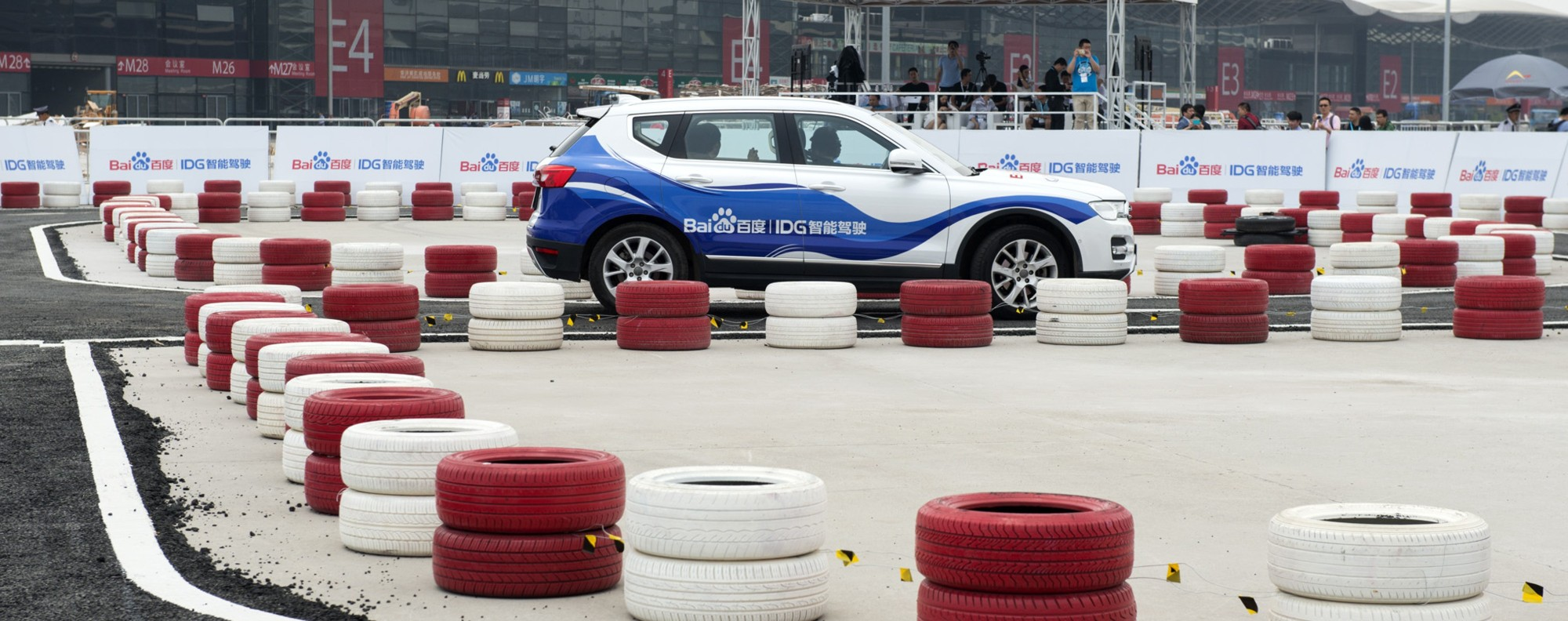 The autonomous vehicle tested at CES Asia in Shanghai.