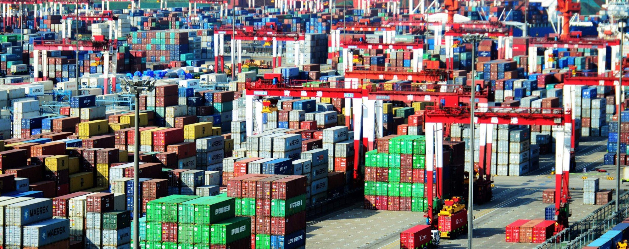 Shipping containers in Qingdao. Photo: AFP