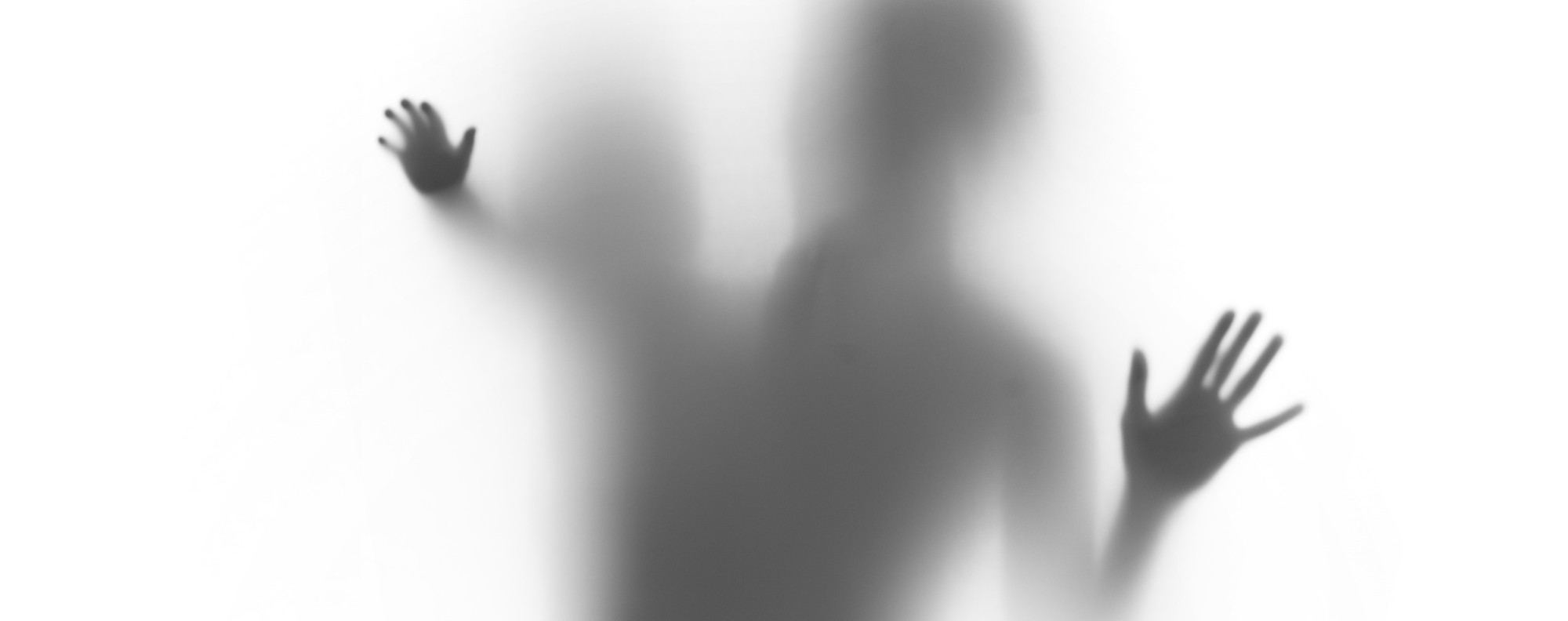 Mother and child, palms and body silhouettes. shutterstock