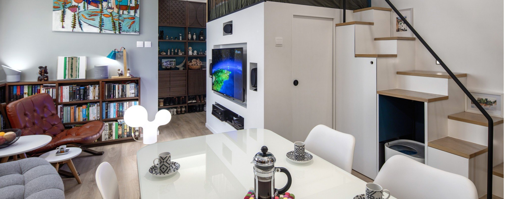 Anne Choy's 300 sq ft Wan Chai micro flat, designed by Mister Glory. Picture: ohn Butlin