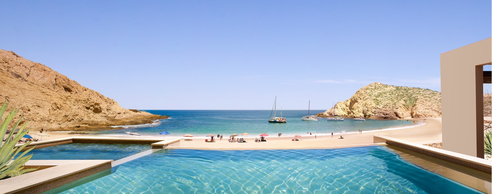 The pool at Montage Los Cabos, in Mexico.