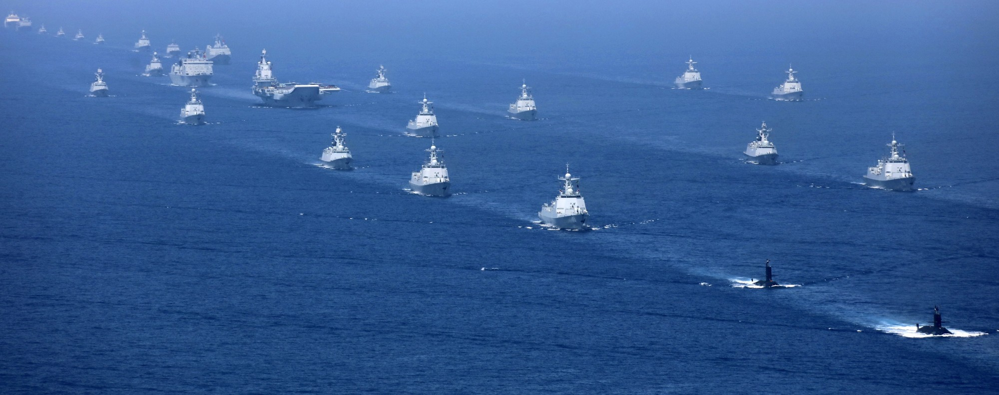 A Chinese fleet in the South China Sea. Photo: AP