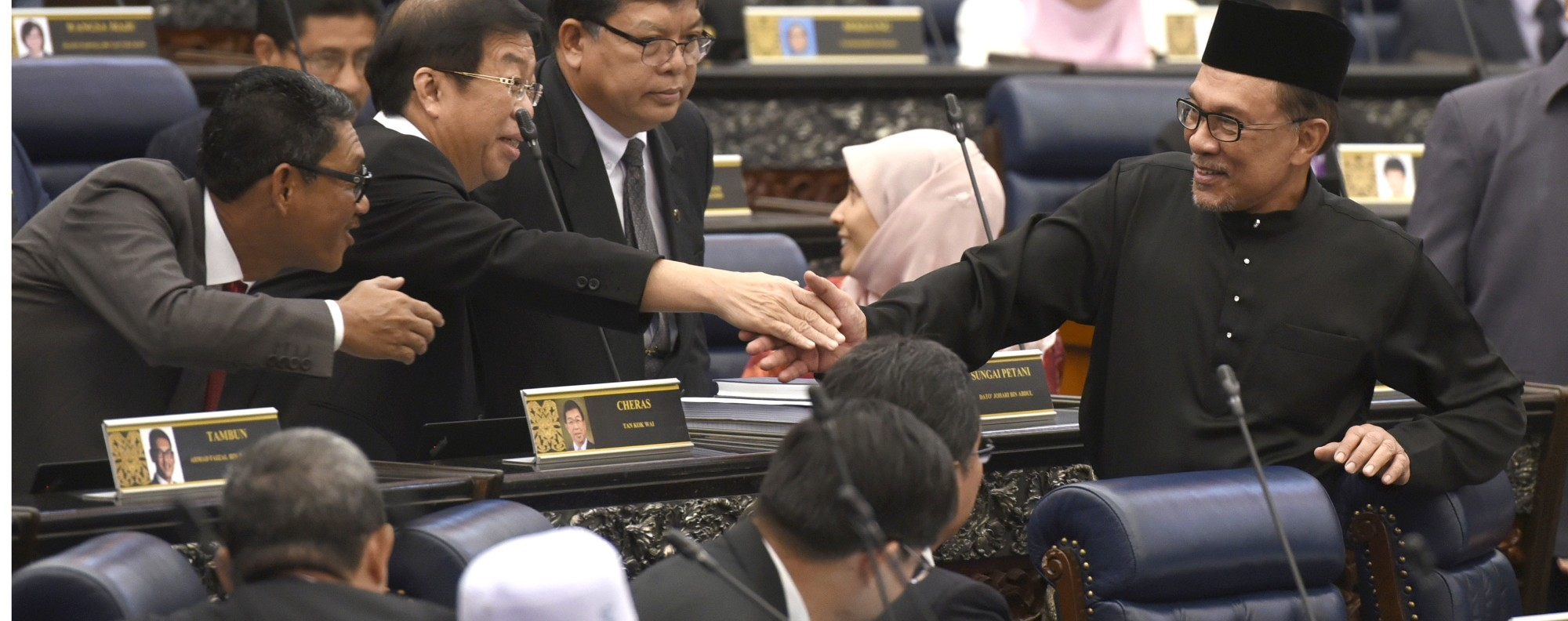 Anwar Ibrahim is back in parliament for the first time since 2015. Photo: AP