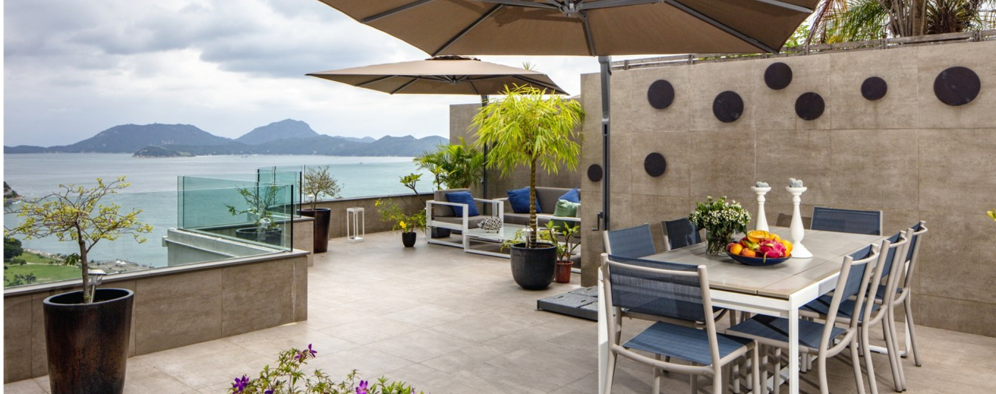 The generous terrace extends the living and dining space outdoors. Picture: John Butlin