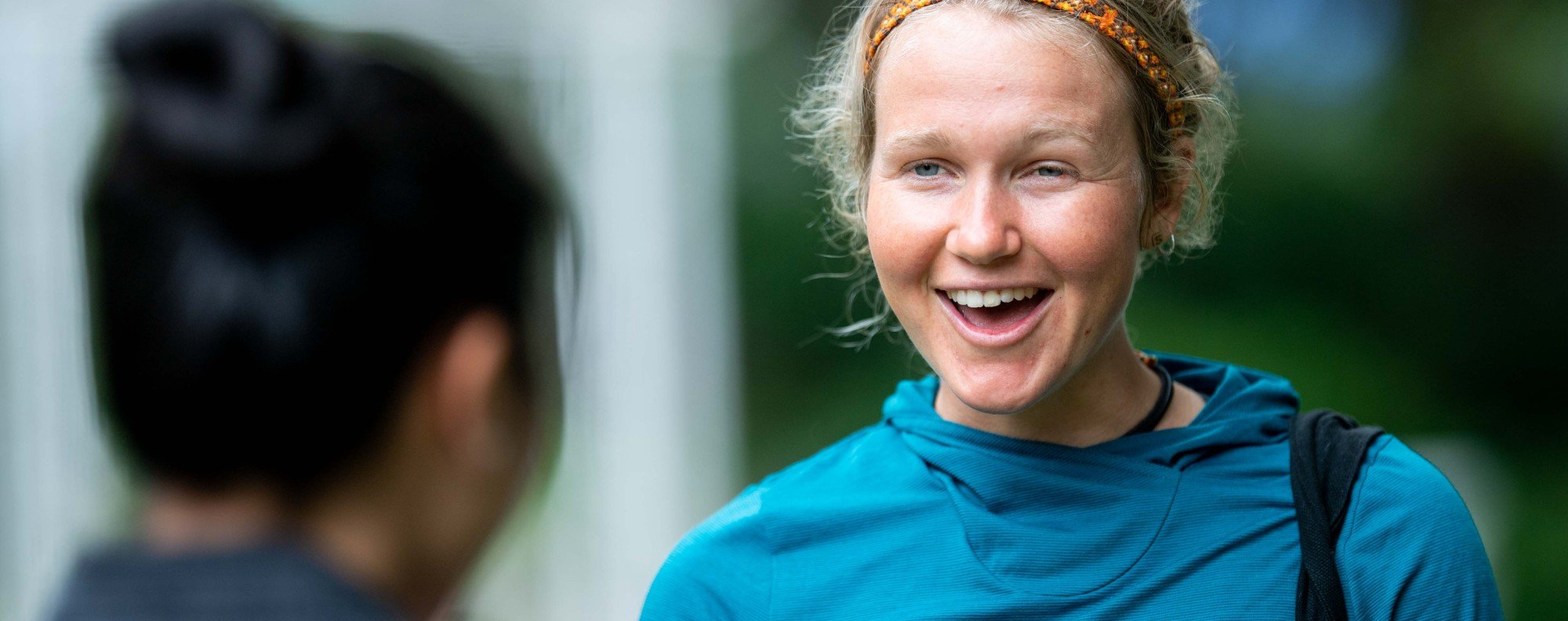 Lucy Bartholomew is one of the world's top trail runners, but the thought of Hong Kong's brutal stair climbs still give her goose bumps. Photos: Salomon