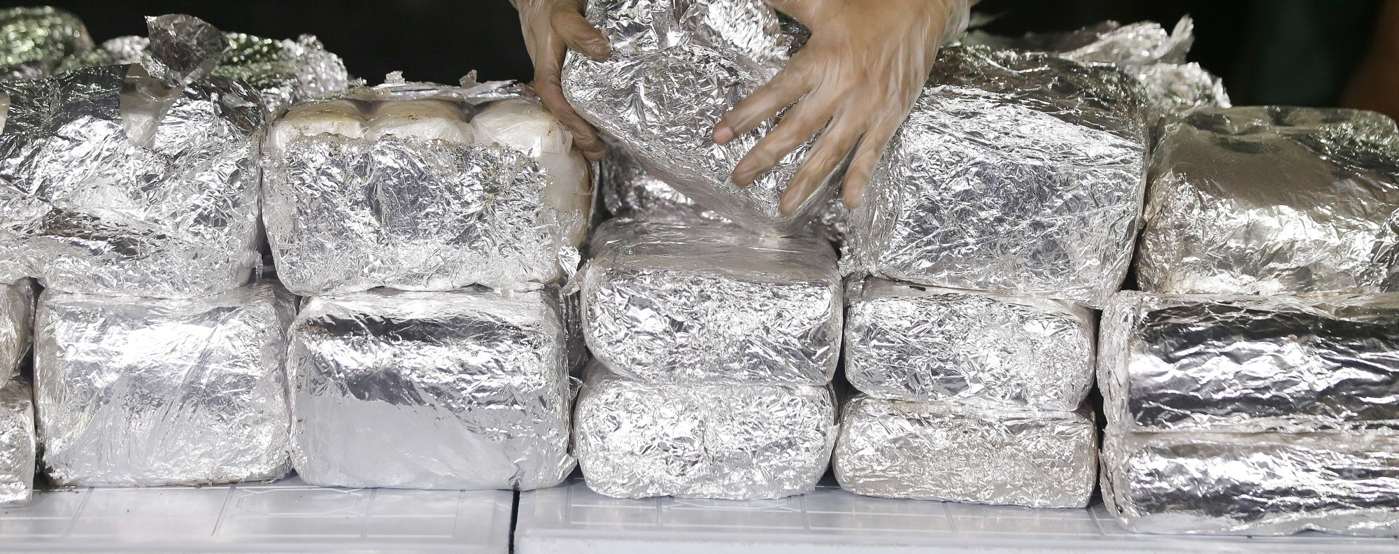 Packs of shabu in the Philippines. Photo: AP