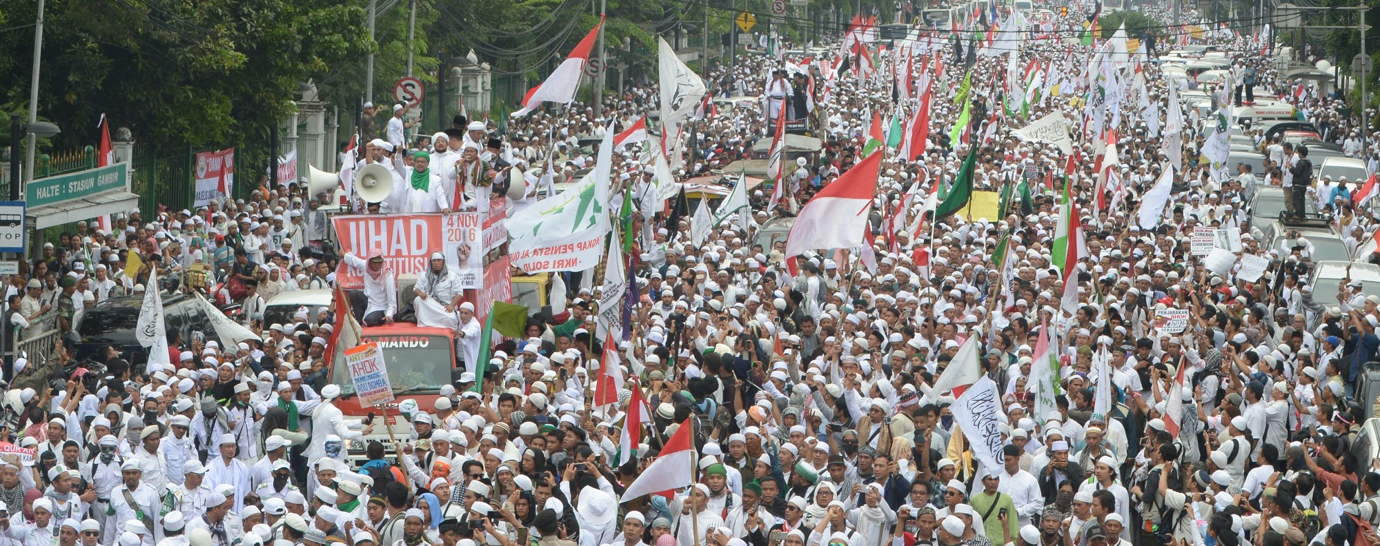 It's been two years since the protests against Ahok. Photo: AFP