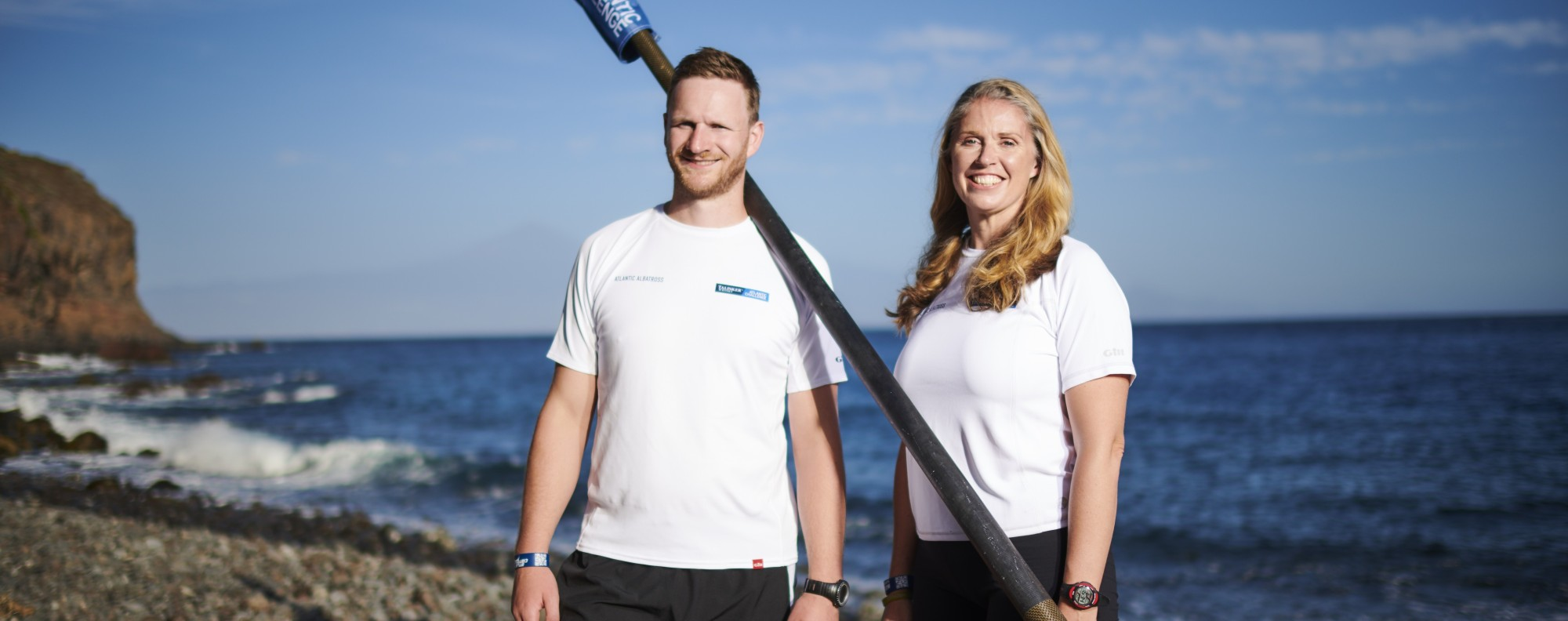 Mark Agnew and Lizzie Gill are hours away from starting their challenge to tackle the Talisker Whisky Atlantic Challenge. Photo: Handout