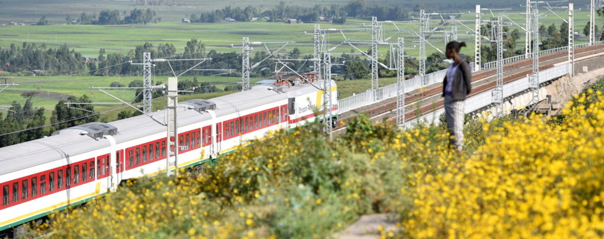 A train on the Addis Ababa to Djibouti railway line. Picture: Xinhua