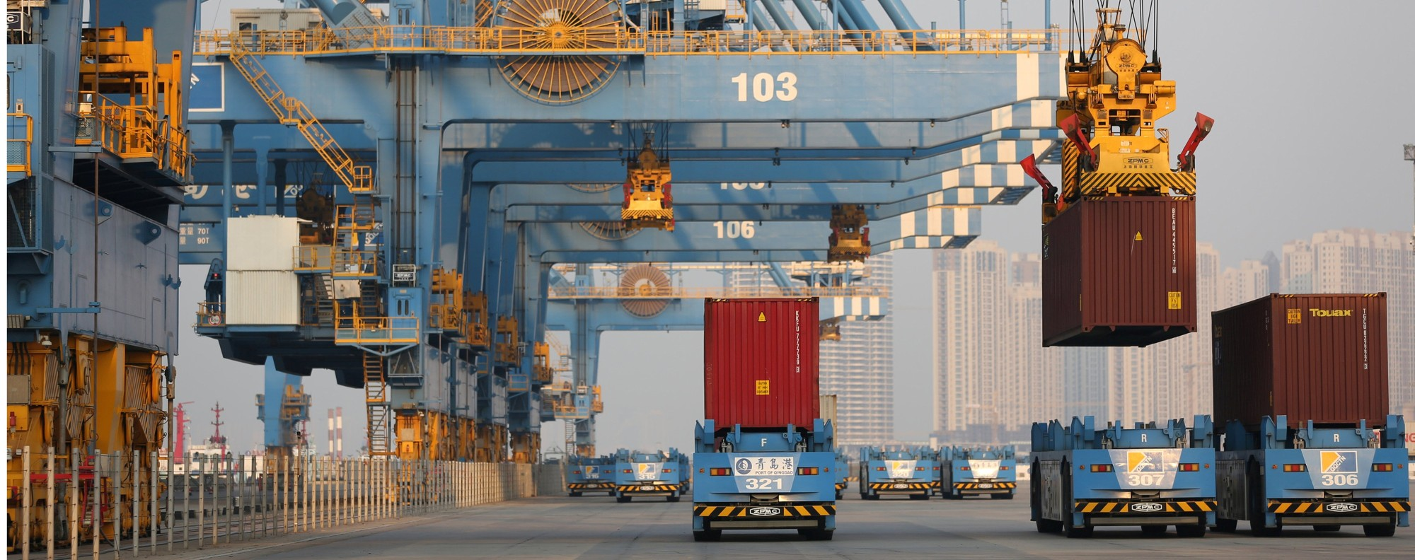 Qingdao port, Shandong province. Picture: Handout