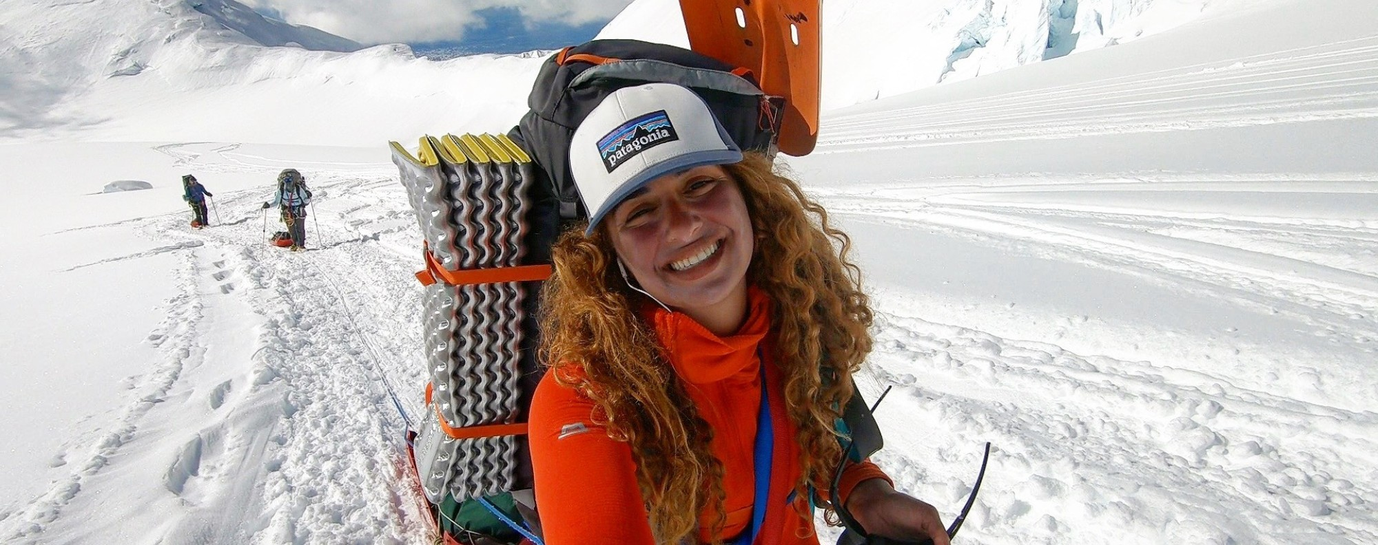 Fatima Deryan, climbing Denali, in North America, is an Arab mountaineer defying expectations for a Middle Eastern woman. Photo: Fatima Deryan