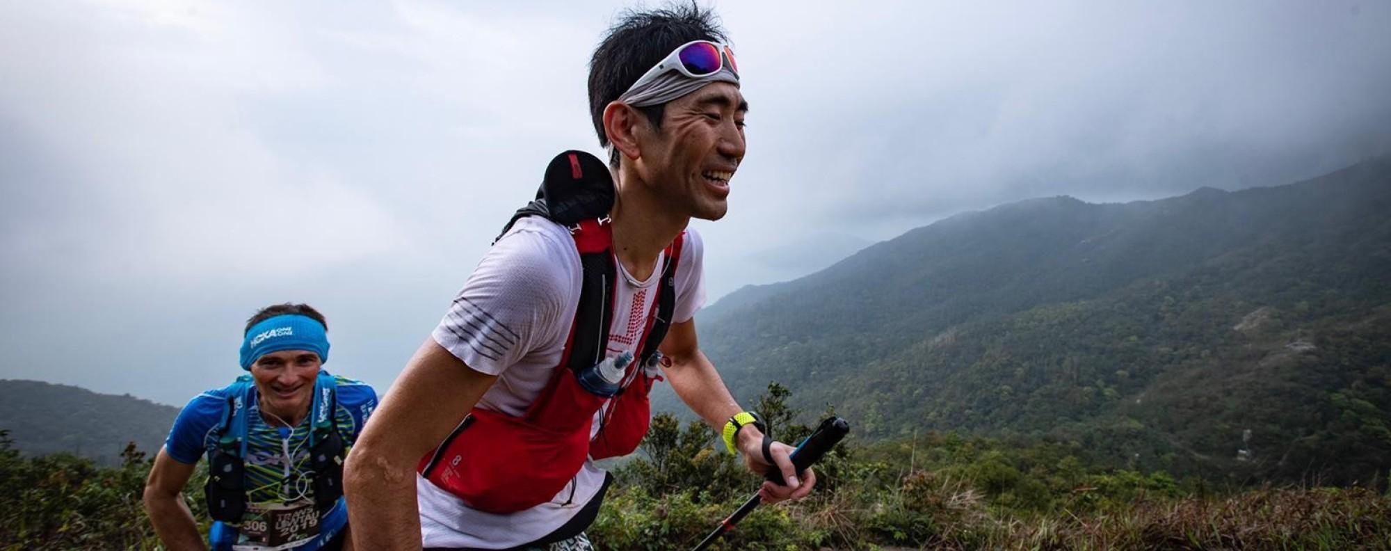 Kazufumi Ose leads Antoine Guillon during Saturday's Translantau 100. Photo: Sunny Lee
