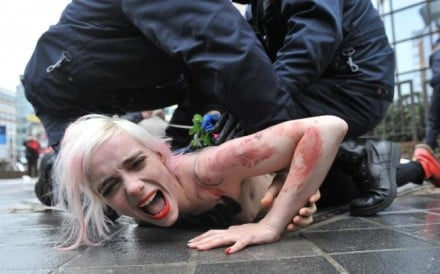 Women's protest group Femen use nakedness to gain attention