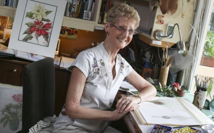 Botanical artist Sally Grace Bunker in her Mui Wo home. Photo: K.Y. Cheng
