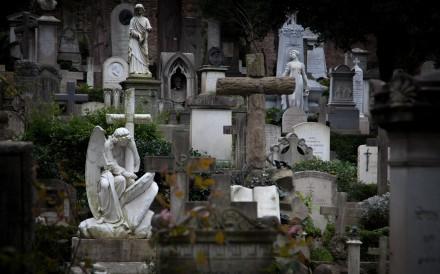 The Cimitero Acattolico.