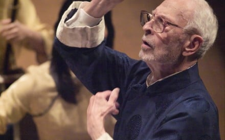 Even in his 90s, Bard frequently returned to Hong Kong to conduct the Hong Kong Chinese Orchestra. Photos: SCMP; Hong Kong Chinese Orchestra