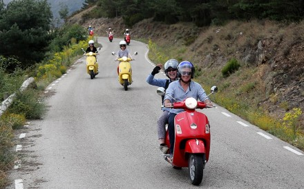 The Flashpack takes up to 10 people on its Vespa tour of northern Spain. Photos: The Flash Pack