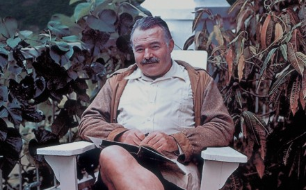 Hemingway at the Repulse Bay Hotel.