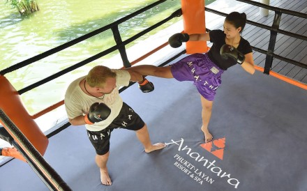The muay Thai boxing ring sets the Anantara resort apart from its many neighbours in Phuket.