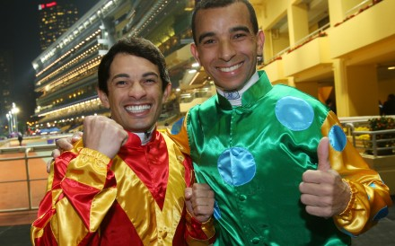Could Silvestre de Sousa(left) match the impact fellow Brazilian Joao Moreira has made in Hong Kong? Photo: Kenneth Chan