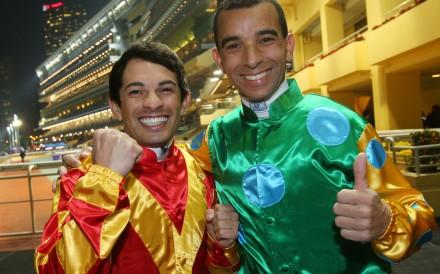Could Silvestre de Sousa(left) match the impact fellow Brazilian Joao Moreira has made in Hong Kong? Photo: Kenneth Chan