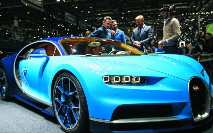 The new Bugatti Chiron on display at the 86th Geneva International Motor Show in Geneva. Photo: EPA