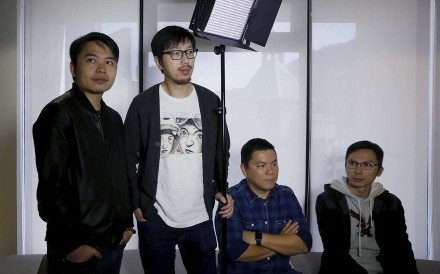 (From left) Ten Years directors Jevons Au, Ng Ka-leung, executive producer Andrew Choi and director Chow Kwun-wai. Photo: Reuters
