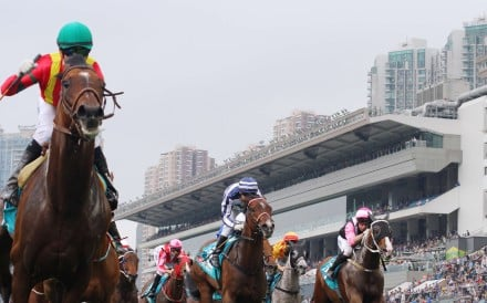 Joao Moreira pilots Maurice to a comprehensive victory in the Champions Mile at Sha Tin on Sunday. Photos: Kenneth Chan