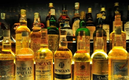 Some of the 3,384 bottles at the Scotch Whisky Experience in Edinburgh, the largest collection of whiskies in the world. Photo: Alamy