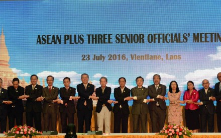 The Asean Plus Three (including China, Japan and South Korea) foreign ministers' meeting in Vientiane, Laos. Photo: Xinhua