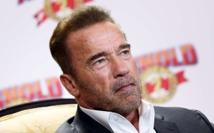 US actor and former California governor Arnold Schwarzenegger at a press conference ahead of the Arnold Classic Asia Multi-Sport Festival. Photo: K. Y. Cheng