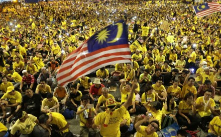 Thousands of anti-government demonstrators at the Bersih rally in Kuala Lumpur, Malaysia, on August 30, 2015. Photo: Ritchie B. Tongo
