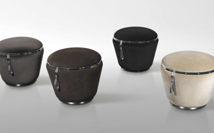Go on, put your feet up on luxury poufs from BoConcept, Saba and Louvre Gallery