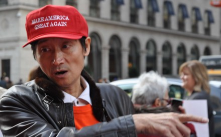 Trump supporter Jack Jia. Photo: SCMP Pictures
