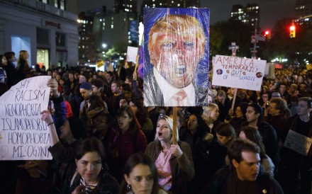 'Not  my president': Thousands of anti-Trump protesters march in New York, Chicago and beyond, with more rallies planned