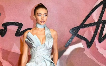 Gigi Hadid was named Model of the Year at the British Fashion Awards 2016. The beauty wore an Atelier Versace gown on the red carpet.