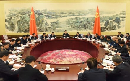 Xi Jinping (C), general secretary of the Communist Party of China (CPC) Central Committee, presides over a meeting of the Political Bureau of the CPC Central Committee held on Monday and Tuesday during which members discussed measures to improve intra-Party political life and supervision in Beijing, capital of China. Photo: Xinhua