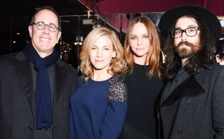 From left: Jerry Seinfeld, Jessica Seinfeld, Stella McCartney and Sean Lennon