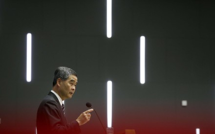 As Chief Executive Leung Chun-ying wrapped up his final policy address, perhaps the biggest elephant in the room was the direction of democratic development after his failed reform for universal suffrage. Photo: K. Y. Cheng