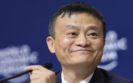 Alibaba executive chairman Jack Ma at the Davos forum earlier this month. Photo: AFP