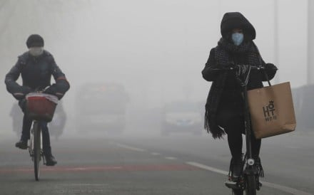 Thick smog in Beijing earlier this month. Photo: Reuters