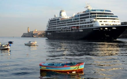 US cruise company Royal Caribbean docked its first ever ship in Cuba on Friday and became the fourth American cruise operator to sail to the island after the two countries reestablished diplomatic relations in 2015. Photo: Xinhua